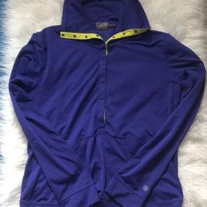 Athleta Purple Snap Down Top